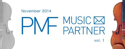 PMF MUSIC PARTNER November 2014 vol. 1