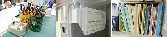 室内楽の楽譜の調達と管理を担当するライブラリアン