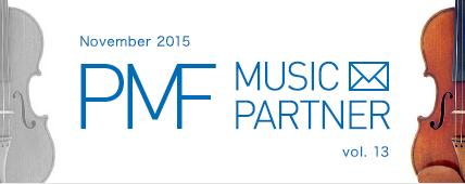 PMF MUSIC PARTNER November 2015 vol. 13
