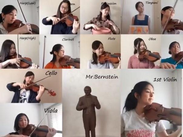 Bernstein: Candide Overture for violins (short version)