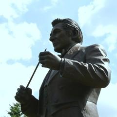 The Leonard Bernstein statue