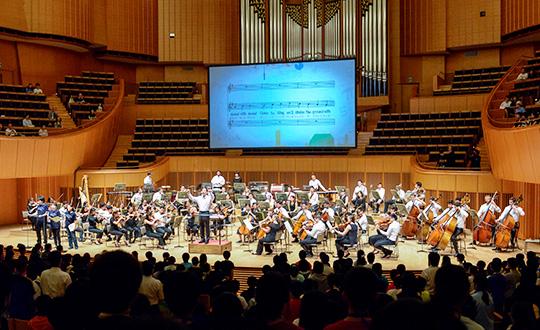 小学6年生がオーケストラと夢の共演!リンクアップ・コンサートの様子