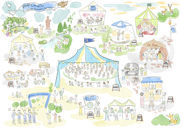 イラスト:PMF Connects ~2020 Summer Festival~のイメージ