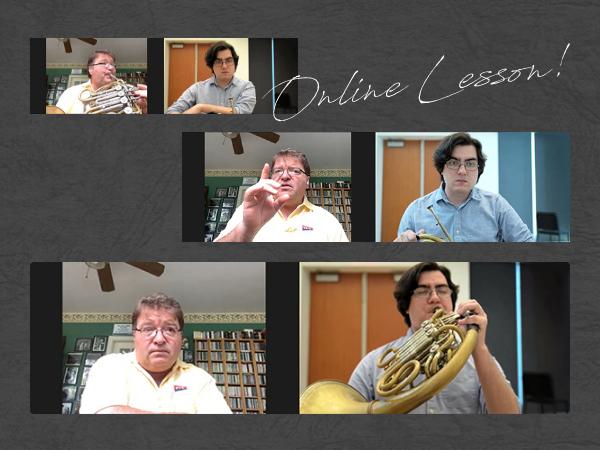 写真:オンライン・マスタークラスの様子