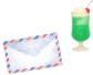 イラスト:手紙とメロンクリームソーダ