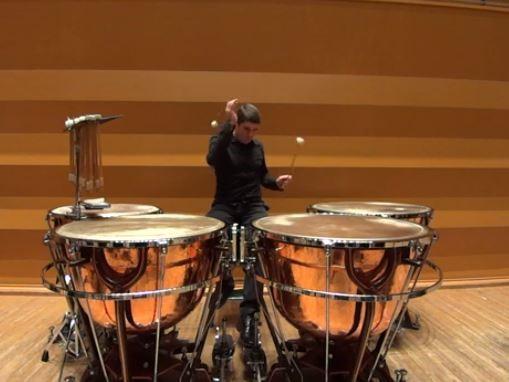 クリューガー: ティンパニと小太鼓のための教則本から No. 45