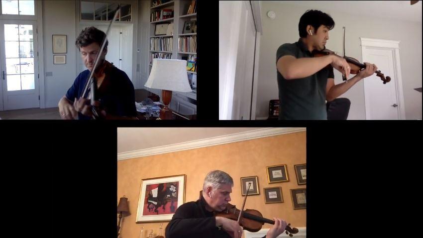 ドヴォルザーク:3台のヴァイオリンのためのガヴォット
