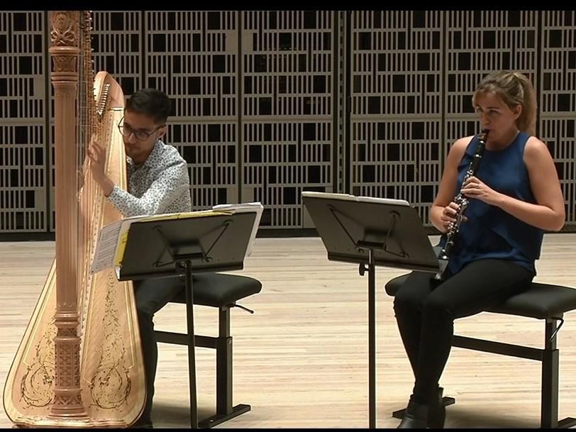 J. M. ダマーズ:クラリネットとハープのためのソナタから I. Moderato
