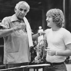 バーンスタインと話すカバレロ(1981年・タングルウッド)
